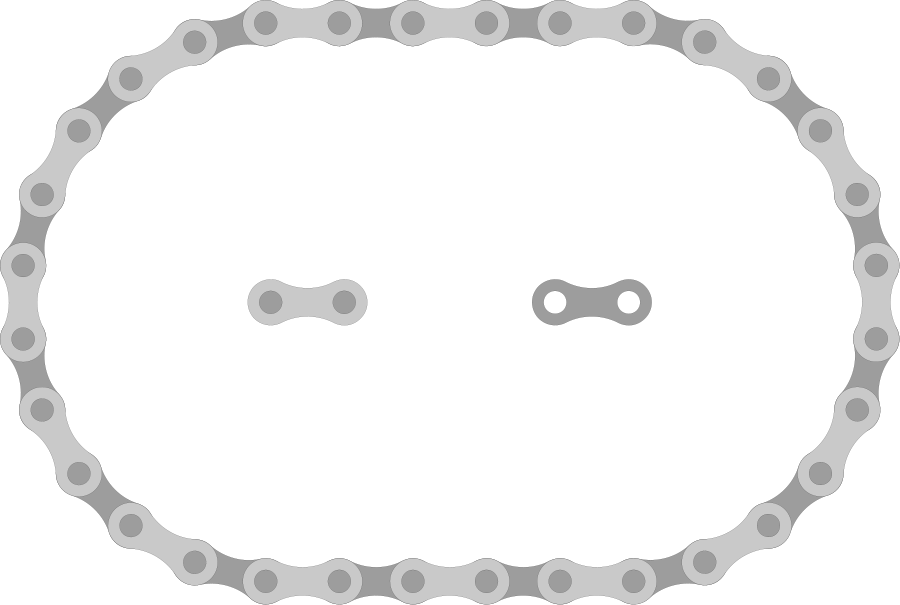 Bike Chain Links Small Clipart 300pixel Size Free Design