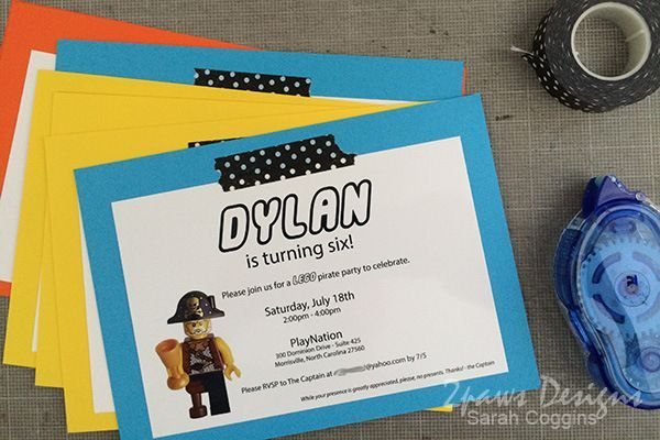 Lego Pirate Party: Invitations - easy step-by-step instructions for how to create your own one of a kind invitations. | tutorial | diy | birthday