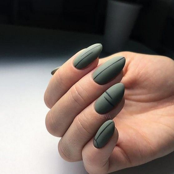 60+ Most Eye-catching Matte Nails With Green Color Inspiration Idea - Page 26 of 63 - Marble Kim Design