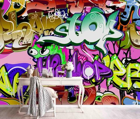 1 3d Graffiti Wall Mural Wallpaper 199 Jessartdecoration In 2020 Mural Wallpaper Graffiti Wallpaper Mural