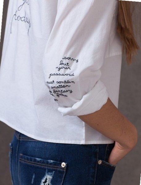 НАДПИСИ на одежде с чуством СТИЛЯ | деним | Stickerei ... - photo#21