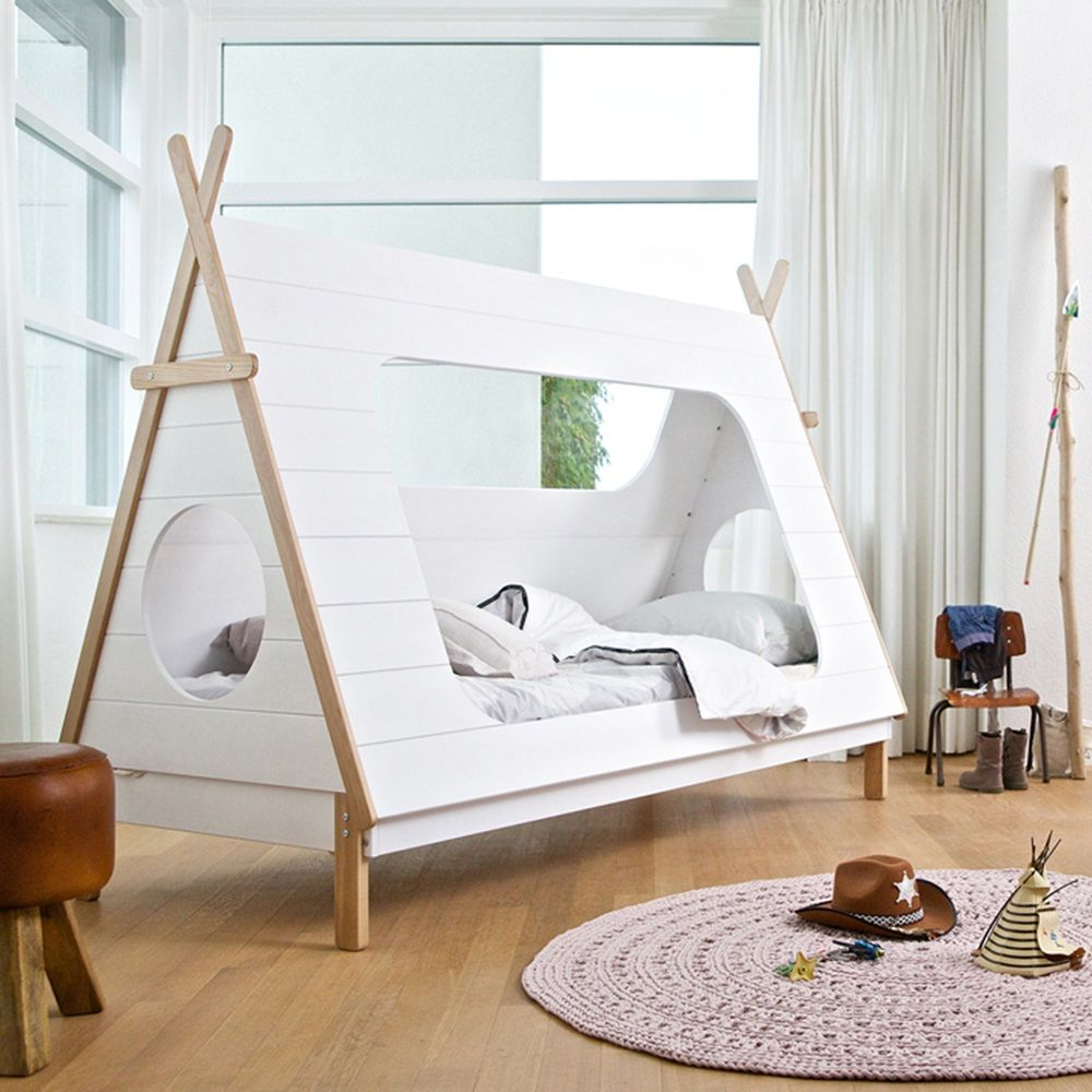 kids teepee cabin bed in white solid pine pinterest cabin