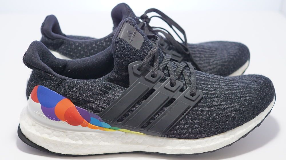 003435cf97b75 Men s Adidas Ultra Boost 3.0 Pride running shoes sneakers size 9.5 ...