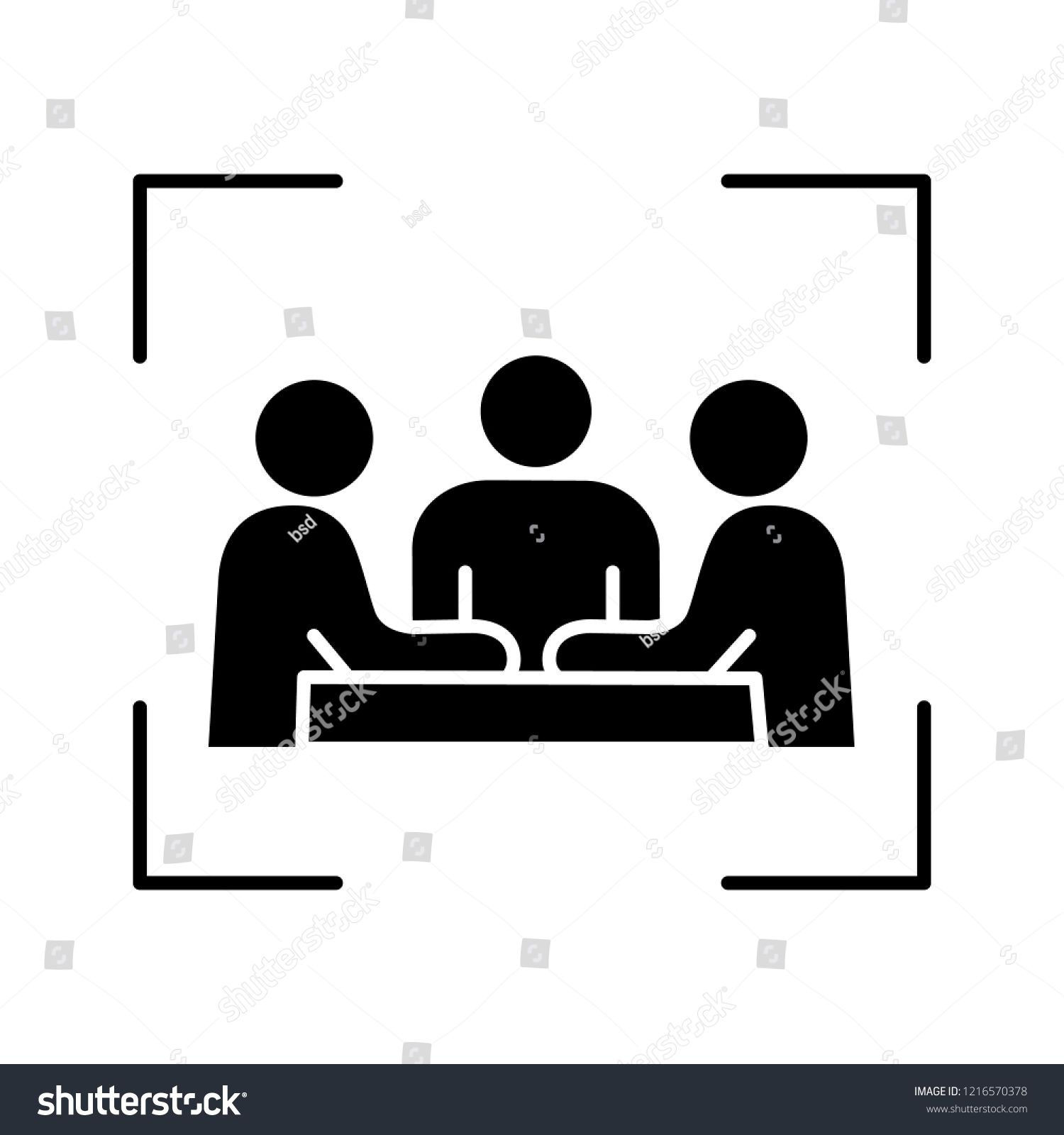 Partners Investors Businessmen Glyph Icon Company Meeting Conference Friends Colleagues Coworkers Board Of Directo Icon Company Glyph Icon Business Man
