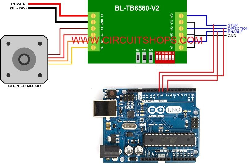 Image Result For Tb6560 Arduino Arduino Arduino Projects Stepper Motor