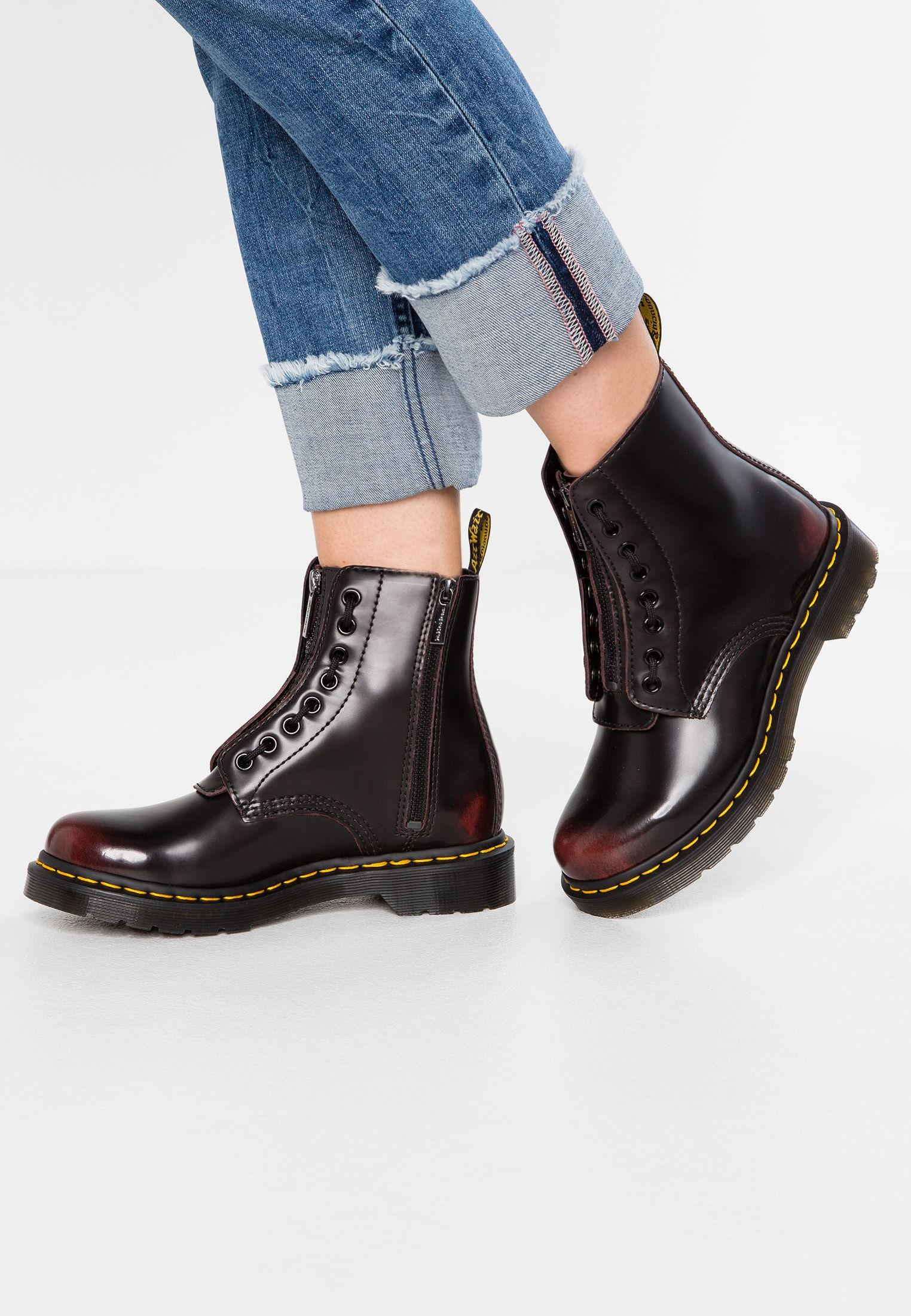 1460 PASCAL FRNT ZIP 8 EYE BOOT Schnürstiefelette cherry