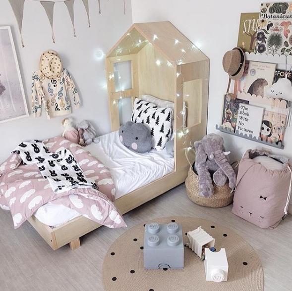 Habitaci n infantil bonita y original en tonos pastel for Habitacion infantil original