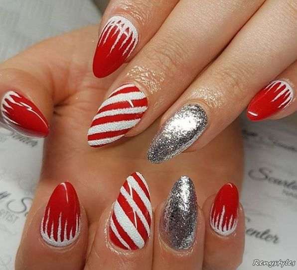 60 CUTE & LOVELY NAILS YOU NEED TO SEE - Reny styles | CHRISTMAS ...