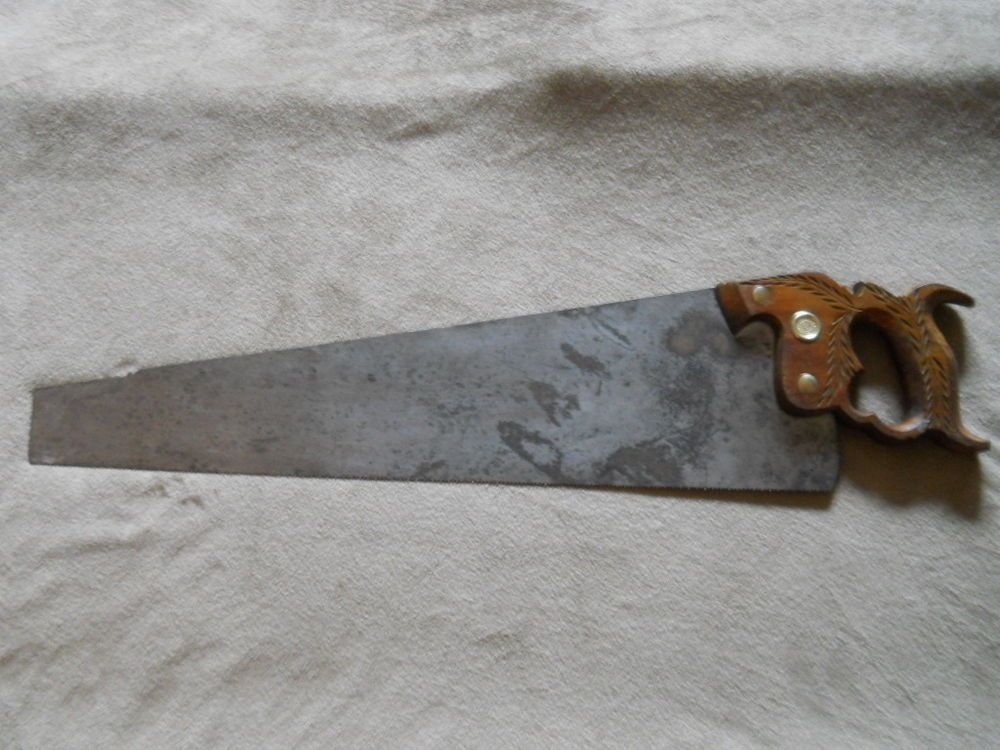 Vintage Henry Disston Sons No 12 London Spring Steel Hand Saw 22 Spring Steel Hand Saw Vintage Tools