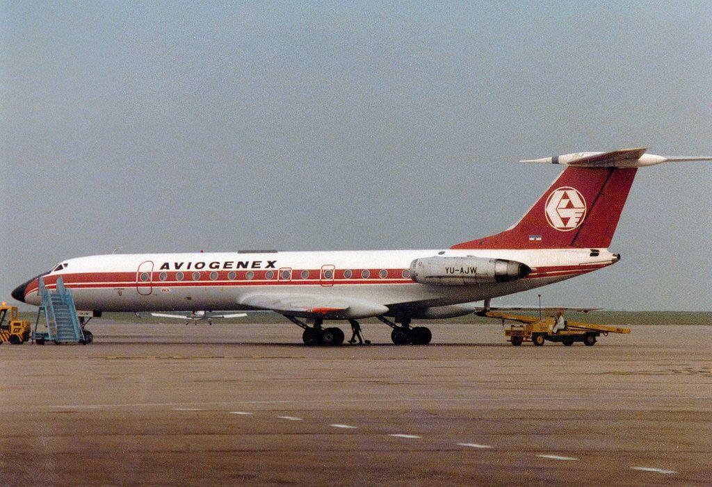 YU-AJW Tupolev Tu-134A cn 60321 Aviogenex East Midlands 20May84