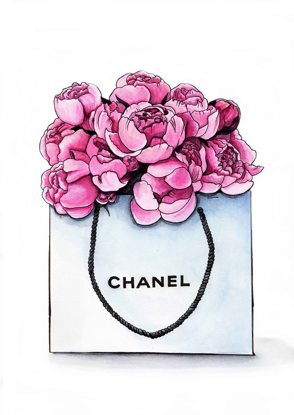 Image Of Chanel Peonies 画像あり Chanel アート 壁紙 デザインスタイル