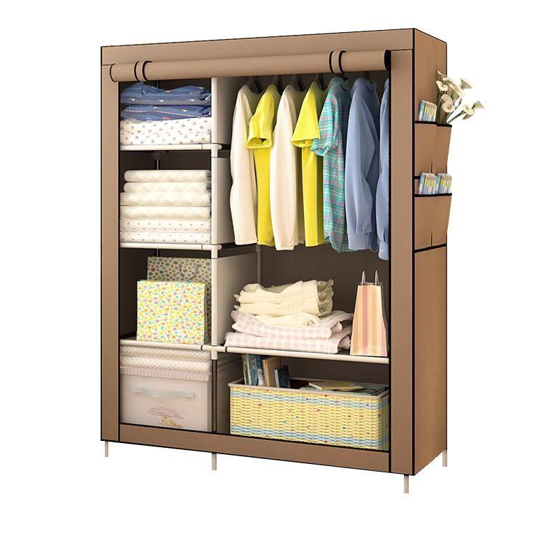 Portable Closet Wardrobe Clothes Rack In 2020 Portable Closet Closet Furniture Diy Wardrobe