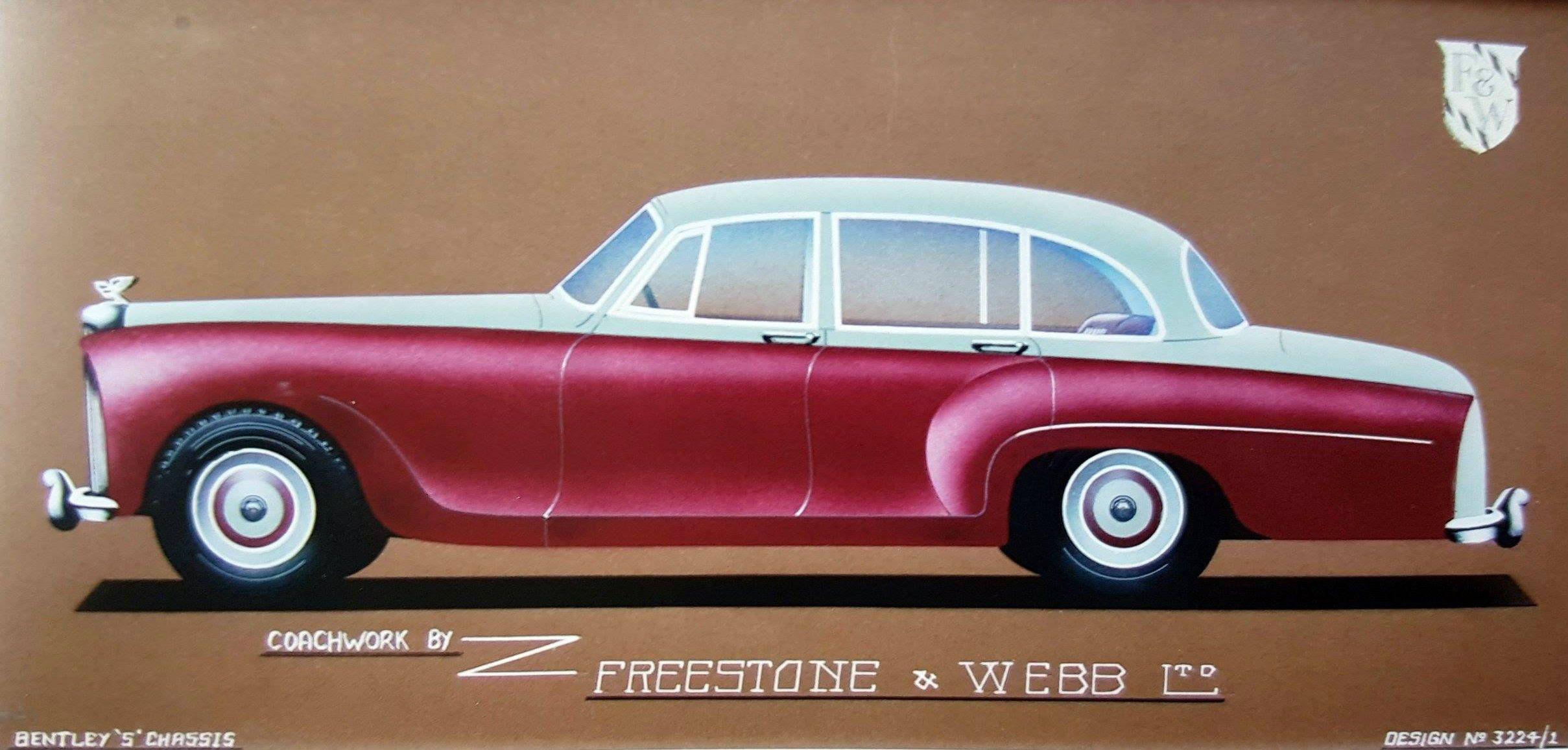 Chassis B354CK (1956) Saloon by Freestone & Webb (design 3224-1) - sketch