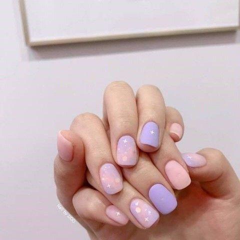pinkayla miller on nails  purple nails manicure gel