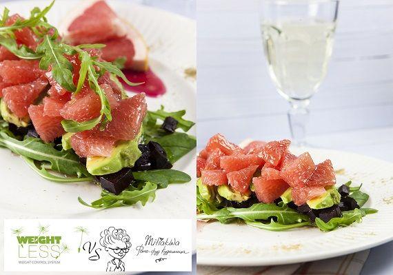 Салат с грейпфрутом и свеклой новые фото