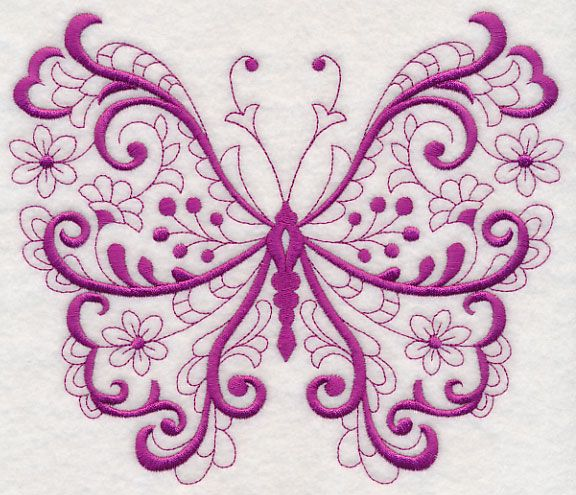 Free Embroidery Design Fancy Filigree Butterfly Free Embroidery