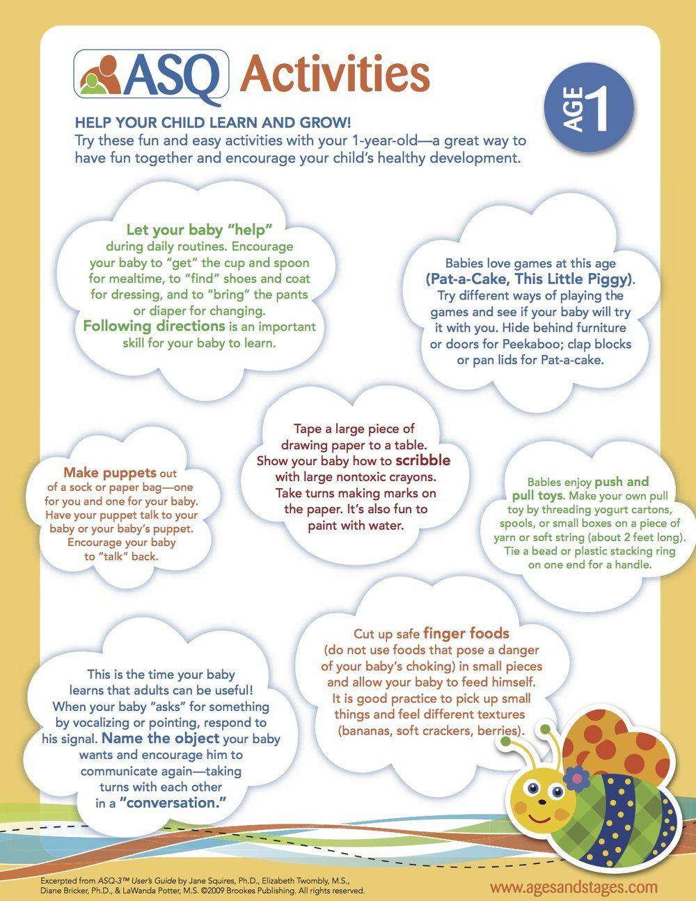Ways of child development from year
