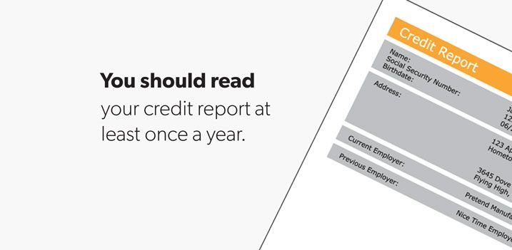 You should read your credit report at least once a year credit you should read your credit report at least once a year credit creditreport thecheapjerseys Image collections