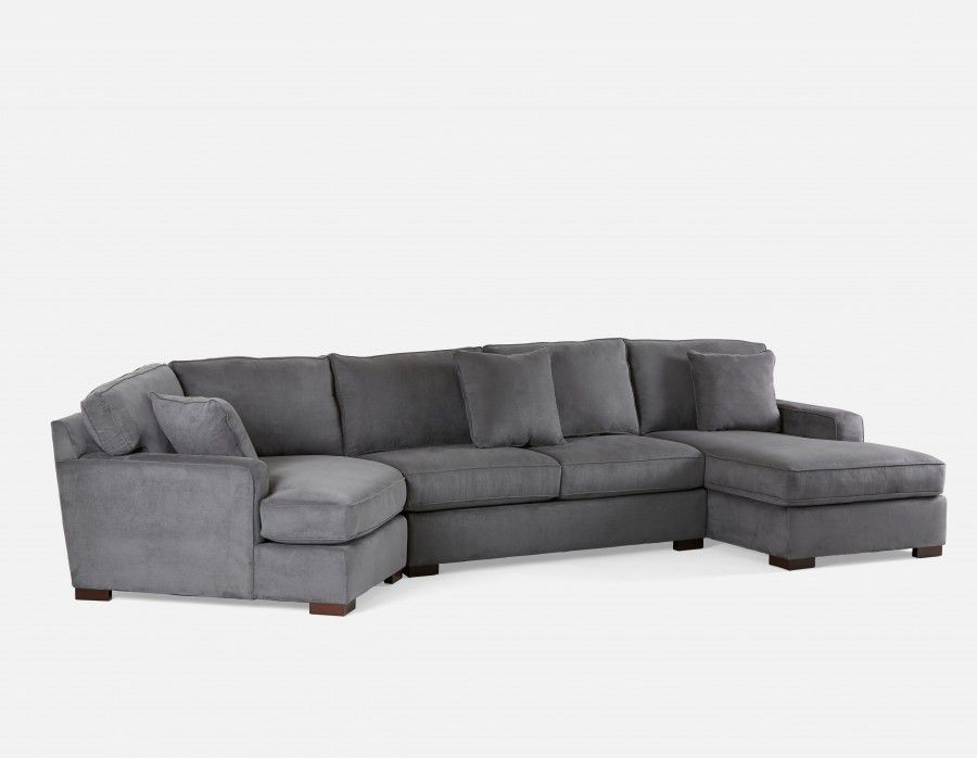 Cordoba Sectional Sofa Right Charcoal Love This Shape