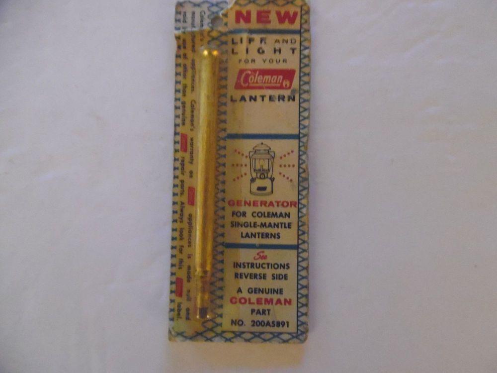 Vintage Coleman Single-Mantle Lantern Generator Part #200A5891