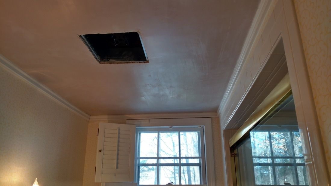 Accept The Open Door To Conceal And Repair Unattractive And Damaged Ceiling And Boost The Height With A St In 2020 Drywall Installation House Worth Interior Wall Paint