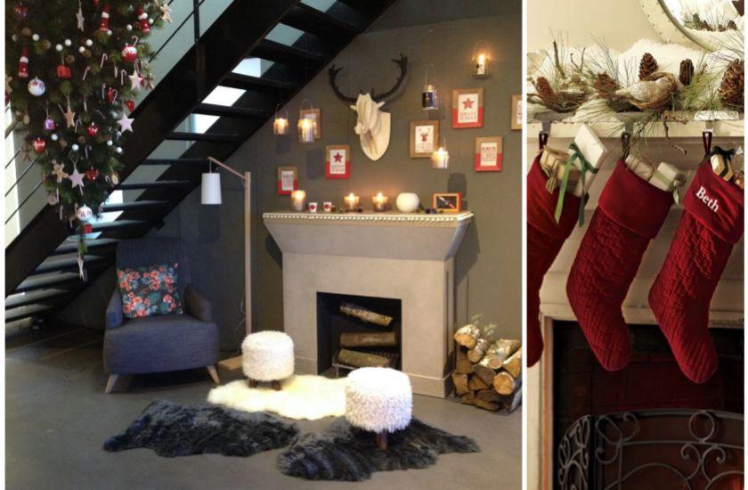 fausse chemin e la d co trompe l 39 oeil no l around the corner diy interior projects home. Black Bedroom Furniture Sets. Home Design Ideas