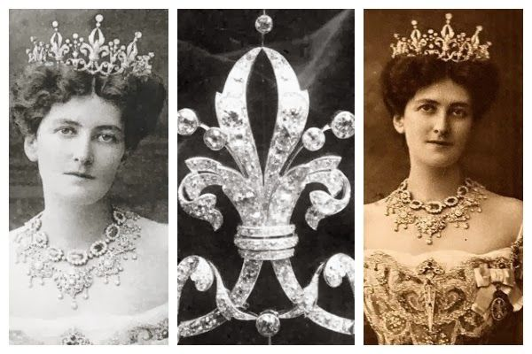 Photos (from left): Mary Victoria Curzon, Lady Curzon; tiara detail; Mary Victoria Curzon, Lady Curzon