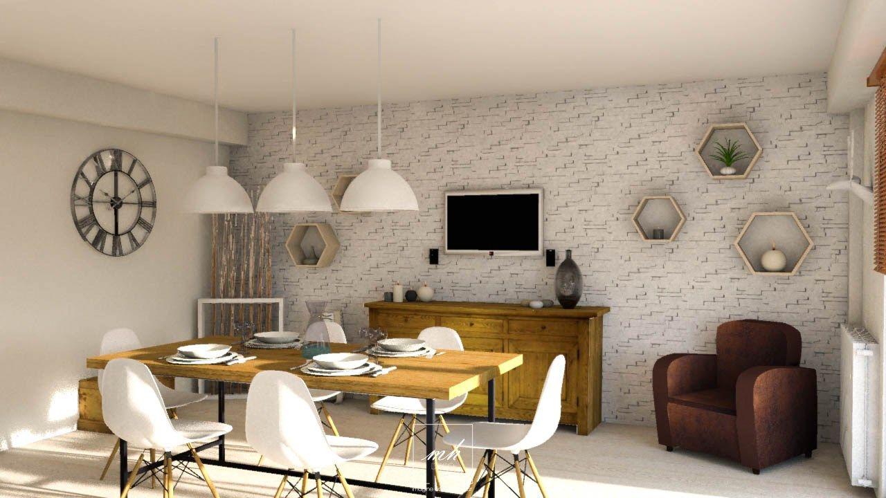 Style industriel scandinave salle à manger | Mes Conception 3D ...
