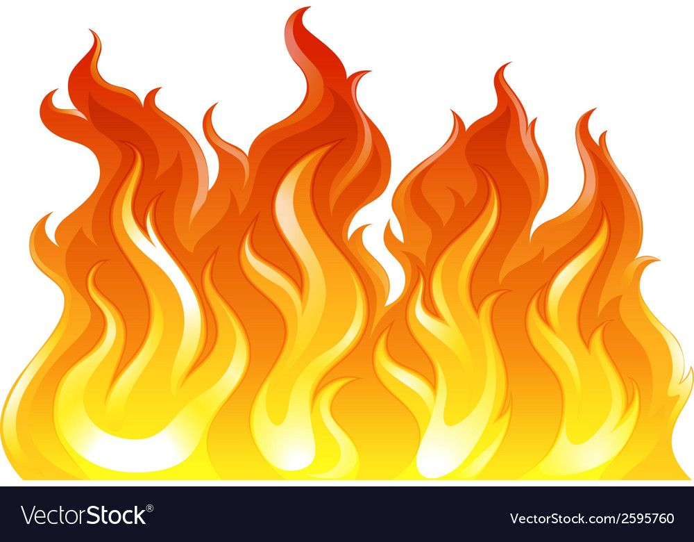 A Fire Vector Image On Vectorstock Drawing Flames Fire Vector Illustration