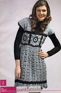 Receitas de Crochet: Vestido