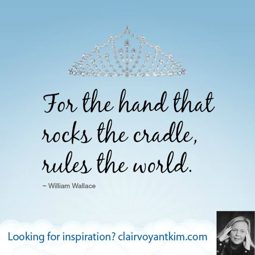 the hand that rocks the cradle rules the world poem