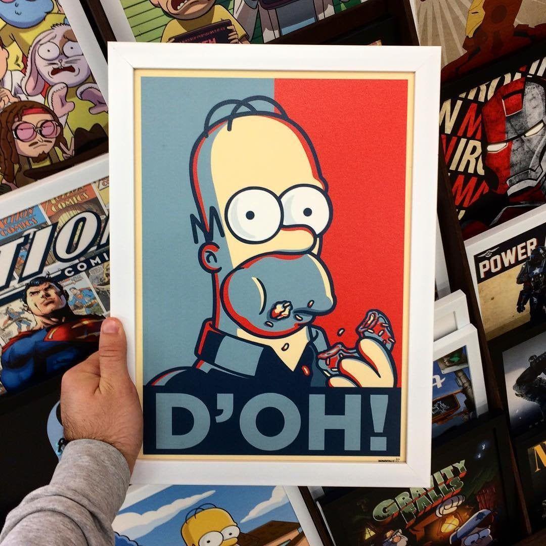 the simpsons poster art homer film