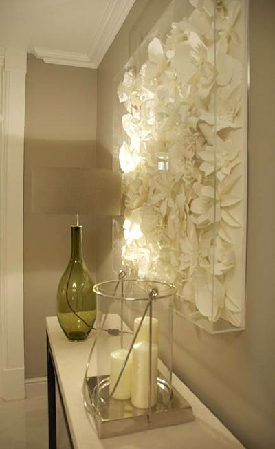 love the wall piece - more stunning paper art on this site than my ...