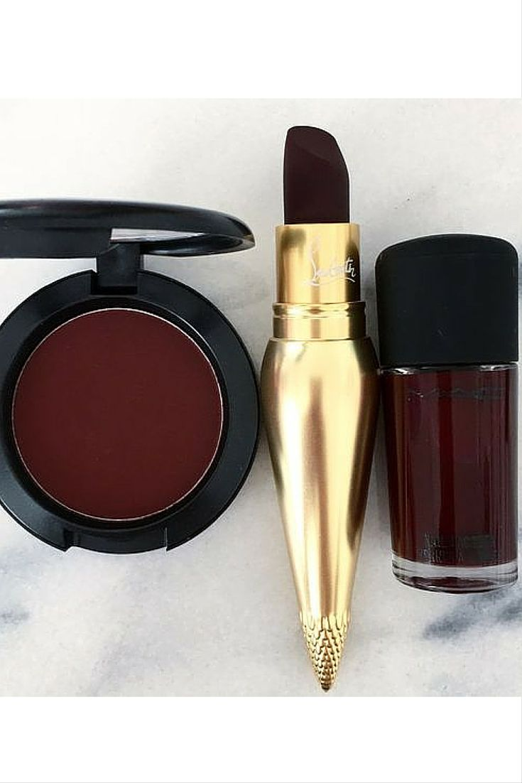 sneakers and pearls, burgundy eyshadow, burgundy nail lacquer, nail ...