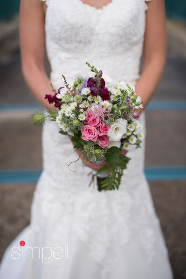 Small Wildflower Bridal Bouquet Florist Mountain Laurel Flower Shop Ashland NH Photography