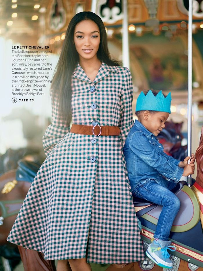 Jourdan Dunn and son Riley in Vogue