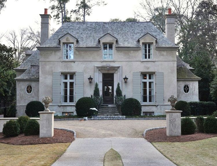 Now slight green wash on shutters stan dixon google - French country exterior house colors ...