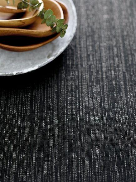 Woven black w silver lurex - Stoff & Stil