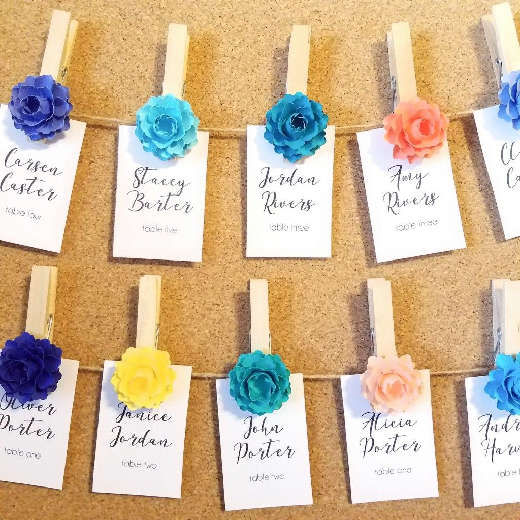 2 Paper Flower Clothespins 220 Pin What You Love Pinterest