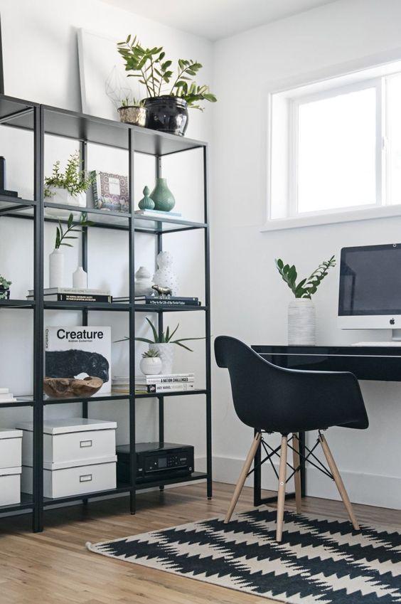 Simple Office Ideas #office #officechair #officeideas #officestorage #storageideas #minimalist #craftingroom #desk #workfromhome #officespace #affiliate