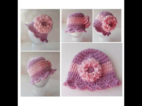 Baby Hat - Purple and Pink Baby Hat with flower - Baby Girl Beanie - Handmade Crochet - Ready to Ship #babyhat #Accessory #BabyAccessory https://www.etsy.com/listing/191941392/baby-hat-purple-and-pink-baby-hat-with?ref=shop_home_active_62