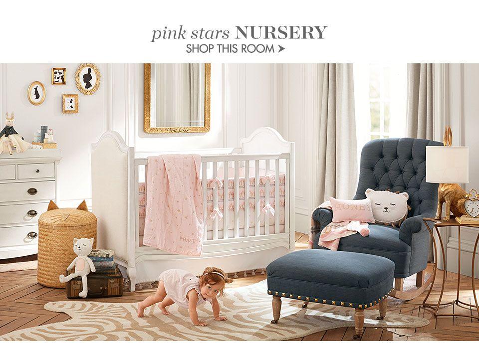 Emily & Meritt Pink Stars Nursery Girl room, Star