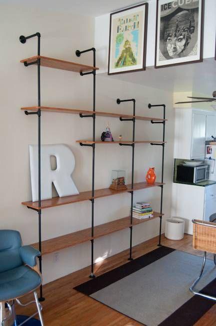 20 Diy Shelving Ideas Racks And Wall Shelves Created With Metal