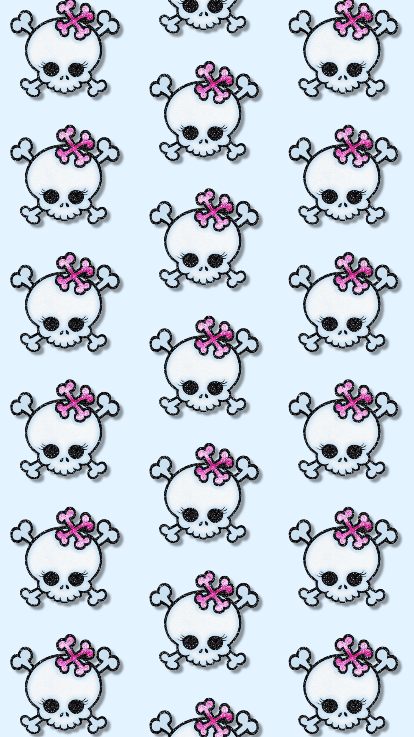 Cute girly skulls wallpaper skull everything pinterest cute girly skulls wallpaper voltagebd