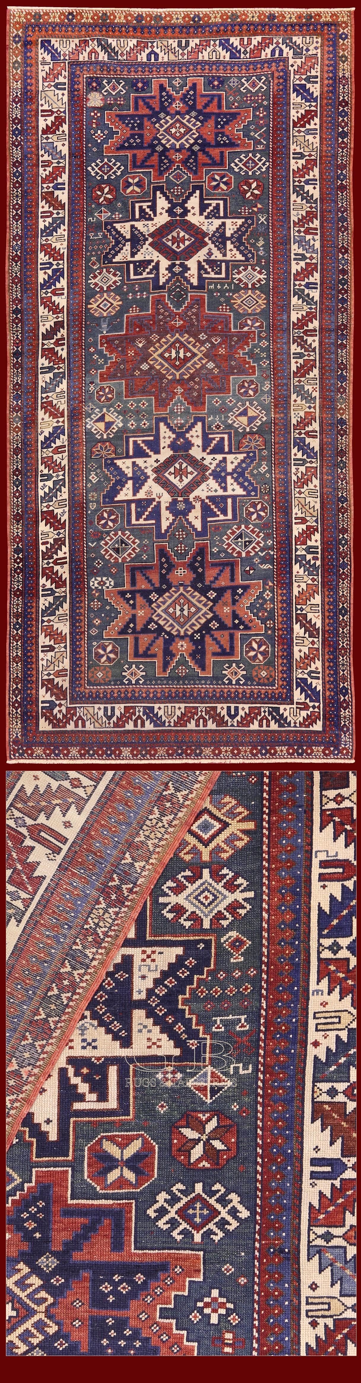 Shirvan Lesghi Antico 268x125 Cod. 141524758834 TAPPETI