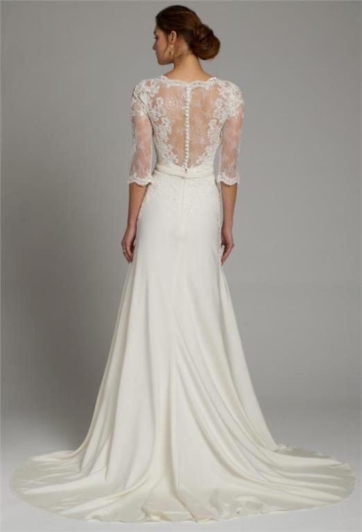 53058c9062c9 Sheath Sommar Lantlig Spets Brudklänning Bröllopsklänning Klänning ...