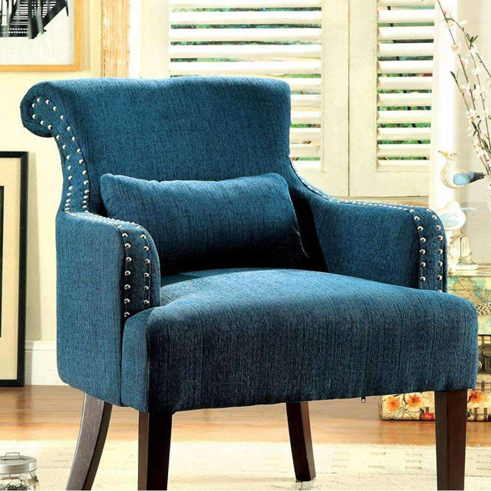 Best Agalva Accent Chair With Dark Teal Color Fabric Bm131473 640 x 480