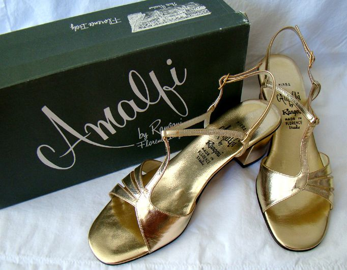Image detail for -GOLD AMALFI 1970's SHOES