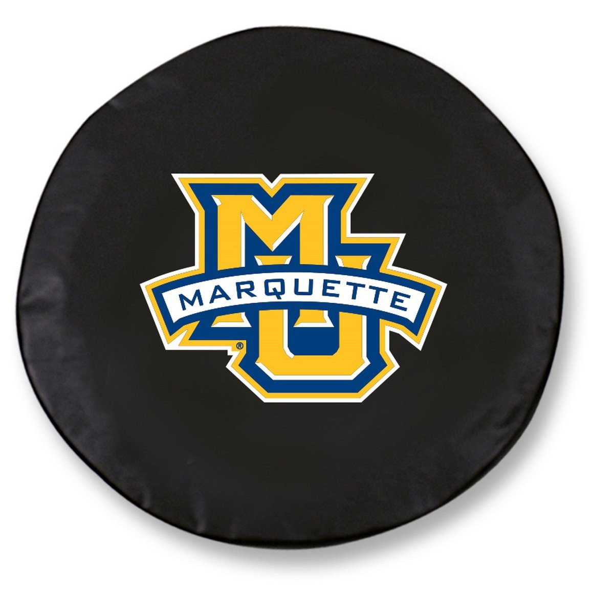 Marquette Golden Eagles HBS Black Vinyl Fitted Car Tire