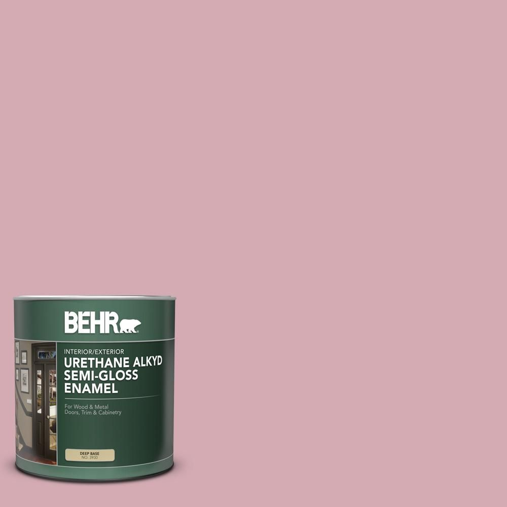 BEHR 1 gal  #S130-3 Ballet Rose Urethane Alkyd Semi-Gloss